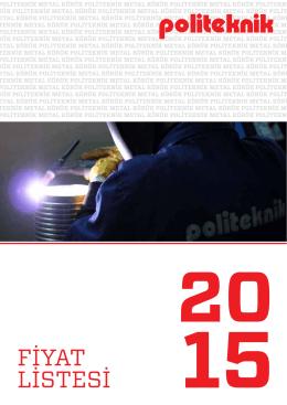 2015 Fiyat Listesi