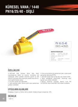 KÜRESEL VANA / 1440 PN16/25/40