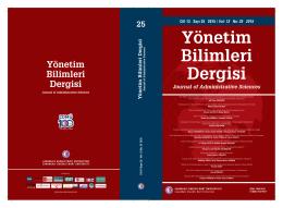 Yönetim Bilimleri Dergisi - Çanakkale Onsekiz Mart Üniversitesi