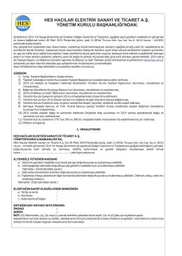 26 03 2015 olağan genel kurul ilanı
