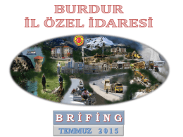 2015 Yılı Temmuz Brifingi