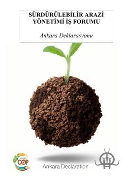 SÜRDÜRÜLEBİLİR ARAZİ YÖNETİMİ İŞ FORUMU Ankara