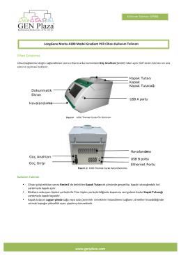 LONGGENE PCR Cihazı Kullanım Talimatı