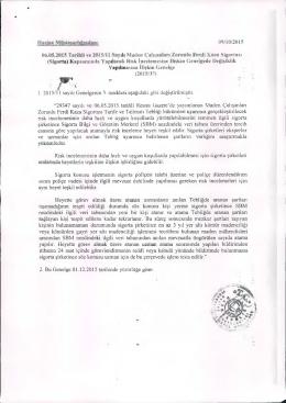 Mstcsarhihnda 09/10/2015 04,05.2015 Tarihli ve 201511 1 Sayılı