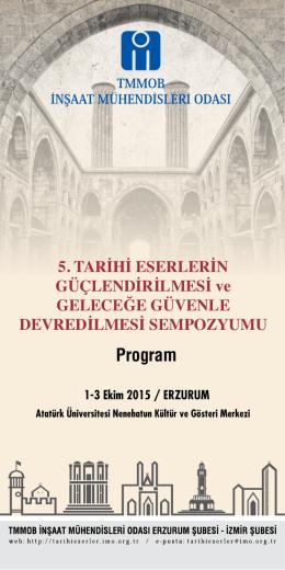 Program - 5. tarihi eserlerin güçlendirilmesi ve geleceğe güvenle