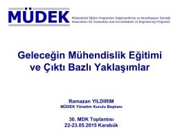 Prof. Dr. Ramazan YILDIRIM (MÜDEK YK Başkanı)