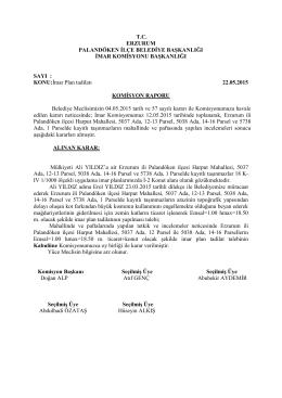 2015 Mayıs Ayı Meclis Komisyon Kararları