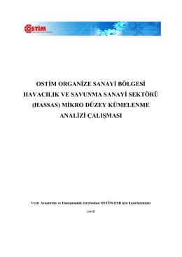 OSTİM ORGANİZE SANAYİ BÖLGESİ HAVACILIK VE SAVUNMA