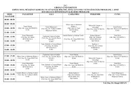 Sivil Savunma ve İtfaiyecilik Programı 1. Sınıf