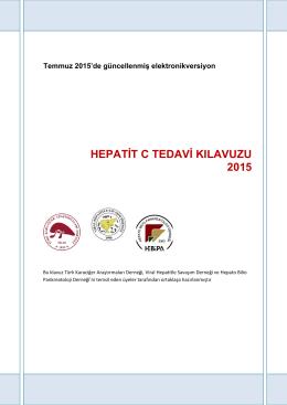 Hepatit C Kılavuzu 2015
