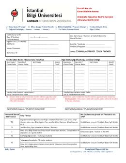 Kredi transfer formu