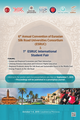 6th ESRUC Annual Consortium - Eurasian Silk Road Universities
