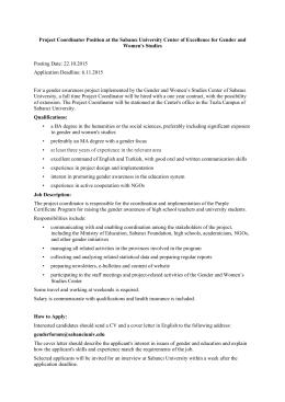 Proje Koordinatörü - Gender Forum