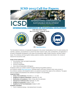 ICSD 2015 Call for Papers