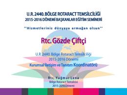 Kurumsal Iletısım - UR 2440.Bölge Rotaract Temsilciliği