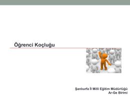 Öğrenci Koçluk Sunusu PDF İçin Tıklayınız