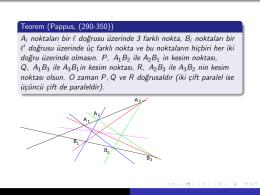 Projektif geometride Pappus, Pascal ve Desargues Teoremleri