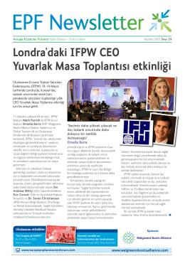 Londra`daki IFPW CEO Yuvarlak Masa Toplantısı etkinlig˘i