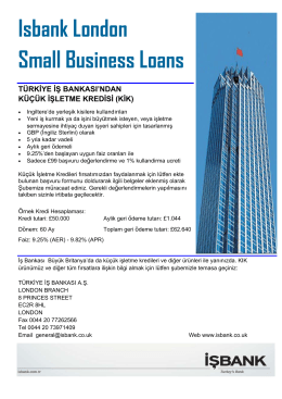 (KİK) Isbank London Small Business Loans