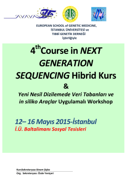 4 Course in NEXT GENERATION SEQUENCING Hibrid Kurs