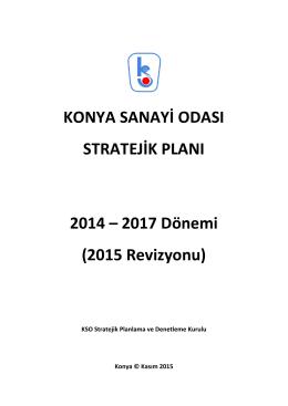 KSO Stratejik Plan - Konya Sanayi Odası