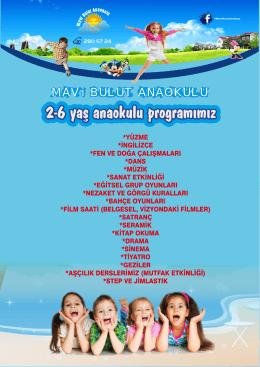 2-6 yaş anaokulu programımız