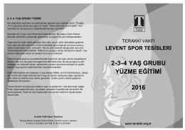 2-3-4 YAŞ GRUBU YÜZME EĞİTİMİ 2016 - Ana Sayfa