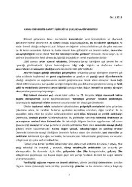 Türkiye İnovasyon Haftası/Kamu-Üniversite-Sanayi