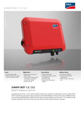 Sunny Boy 1.5 / 2.5 - SMA Solar Technology AG