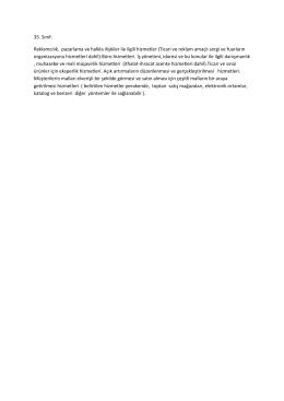 Sınıf detaylarını PDF olarak görüntülemek için tıklayınız.