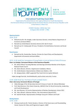 International Youth Day Event 2015