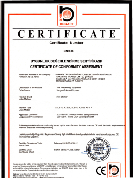 certificate Number