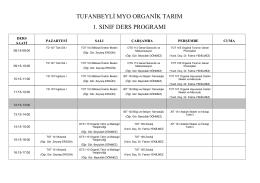 tufanbeyli myo organik tarım 1. sınıf ders programı