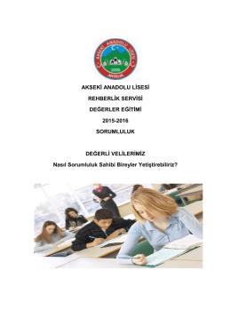 Sorumluluk - Akseki Anadolu Lisesi