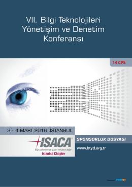 Sponsorluk - Bilgi Teknolojileri Yönetişim Ve Denetim Konferansı