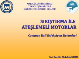 DIZEL YAKIT SISTEMLERI ve COMMON RAIL-2015