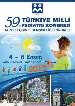 6 Kasım 2015 - 59. türkiye milli pediatri kongresi