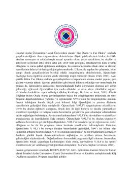 İstanbul Aydın Üniversitesi Çocuk Üniversitesi olarak ``Kış Okulu ve
