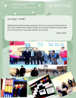 Şubat 2015 Okul Gazetemiz