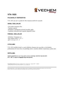 VTA 1025 - Vechem Kimya