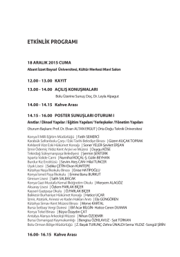 Program - Abant İzzet Baysal Üniversitesi