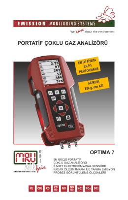 optıma 7 portatif çoklu gaz analizörü