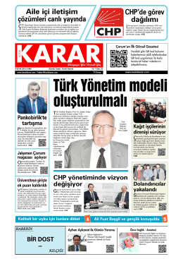 Türk Yönetim modeli oluşturulmalı