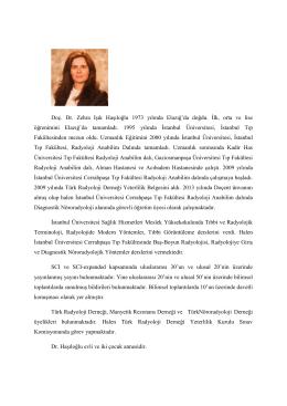 Dr. Zehra Işık HAŞILOĞLU