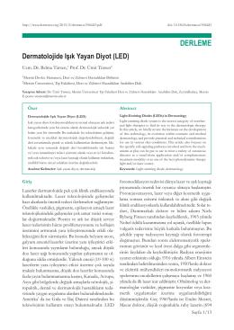 Dermatolojide Işık Yayan Diyot (LED) Belma Tursen