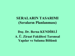 Işık - Ankara Üniversitesi Ziraat Fakültesi