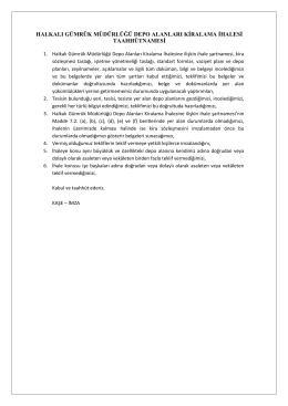 halkalı gümrük müdürlüğü depo alanları kiralama ihalesi