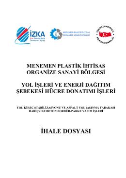 ihale dosyası - İzmir Kalkınma Ajansı