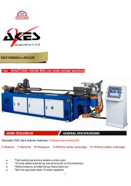 Otomatik CNC boru bükme makinası- 5 eksen servo