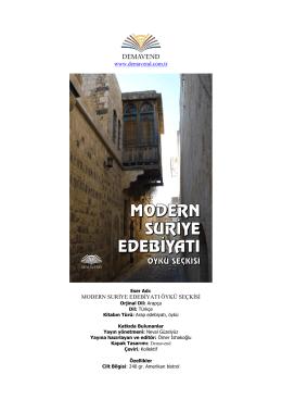 MODERN SURİYE EDEBİYATI (Öykü Seçkisi), Yayına hazırlayan